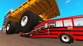 Belaz 75710 Heavy Car Destruction #7 BeamNG Drive
