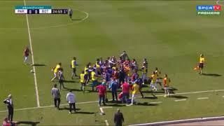 Briga entre jogadores Paraná x botafogo!!!