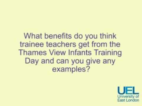 UEL Interview with Mr Wood & Ms Boyce - Question 1