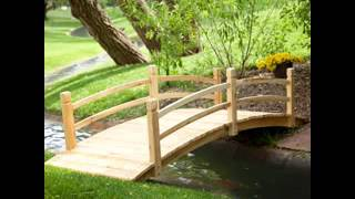 DIY decorating Ideas for Small garden bridge.