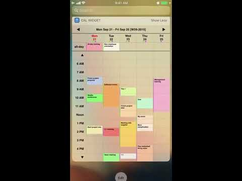 Best iOS Week Calendar Widget App