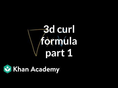 3d curl formula, part 1
