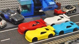 Cars 3 : Jackson Storm's Race Car Factory! - StopMotion
