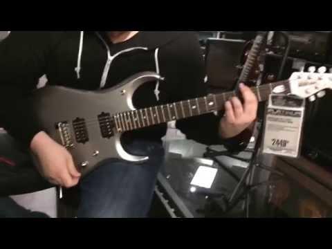 Testing a JP13 at Guitar Center