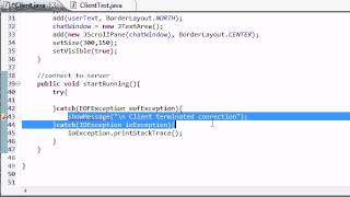 Intermediate Java Tutorial - 51 - Setting Up the Client for Chatting