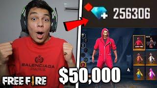 ¡COMPRO 200,000 DIAMANTES y COMPRO TODO LO NUEVO de FREE FIRE! *$50,000 pesos*