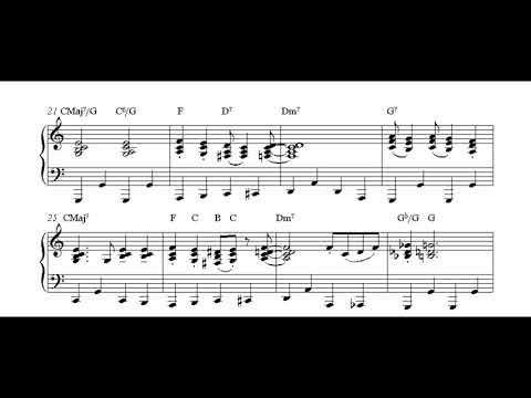 white christmas jazz _ piano sheet