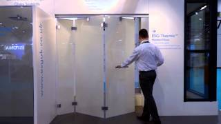 Bi-folding Frameless Doors From Esg Featuring Esg Switchable Lcd Privacy Glass