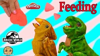 Feed Playdoh Meat to Electronic Jurassic World Baby Dinosaurs Tyrannosaurus REX - Cookieswirlc