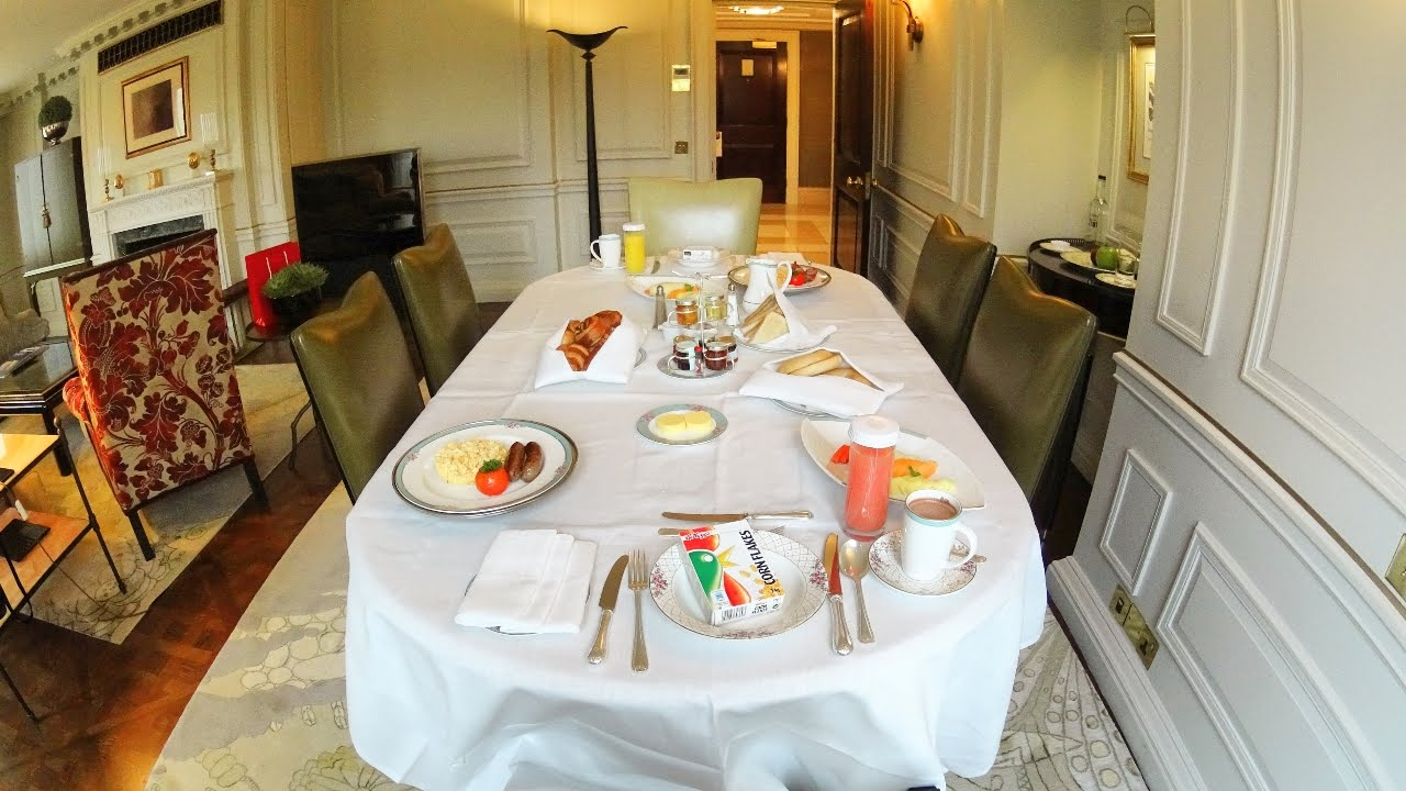 Amazing Room Service Breakfast At The Dorchester In London Youtube