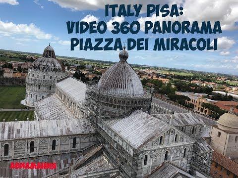 Italy Pisa: video 360 panorama Piazza dei Miracoli