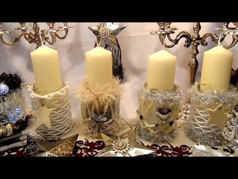 diy pomp se weihnachts deko gl ser adventskranz kerzen. Black Bedroom Furniture Sets. Home Design Ideas