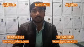 Manish Chaudhary @QSpiders @JSpiders Delhi NCR Video