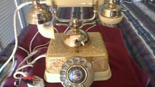 ANTIGUO TELEFONO EN METAL 60s. MADE IN SINGAPUR