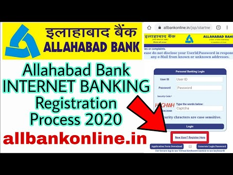 Allahabad Bank INTERNET BANKING Registration Process 2020 | Internet Banking Allahabad Bank