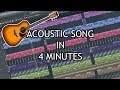 MAKE AN ACOUSTIC SONG IN 4 MINUTES [FL STUDIO]