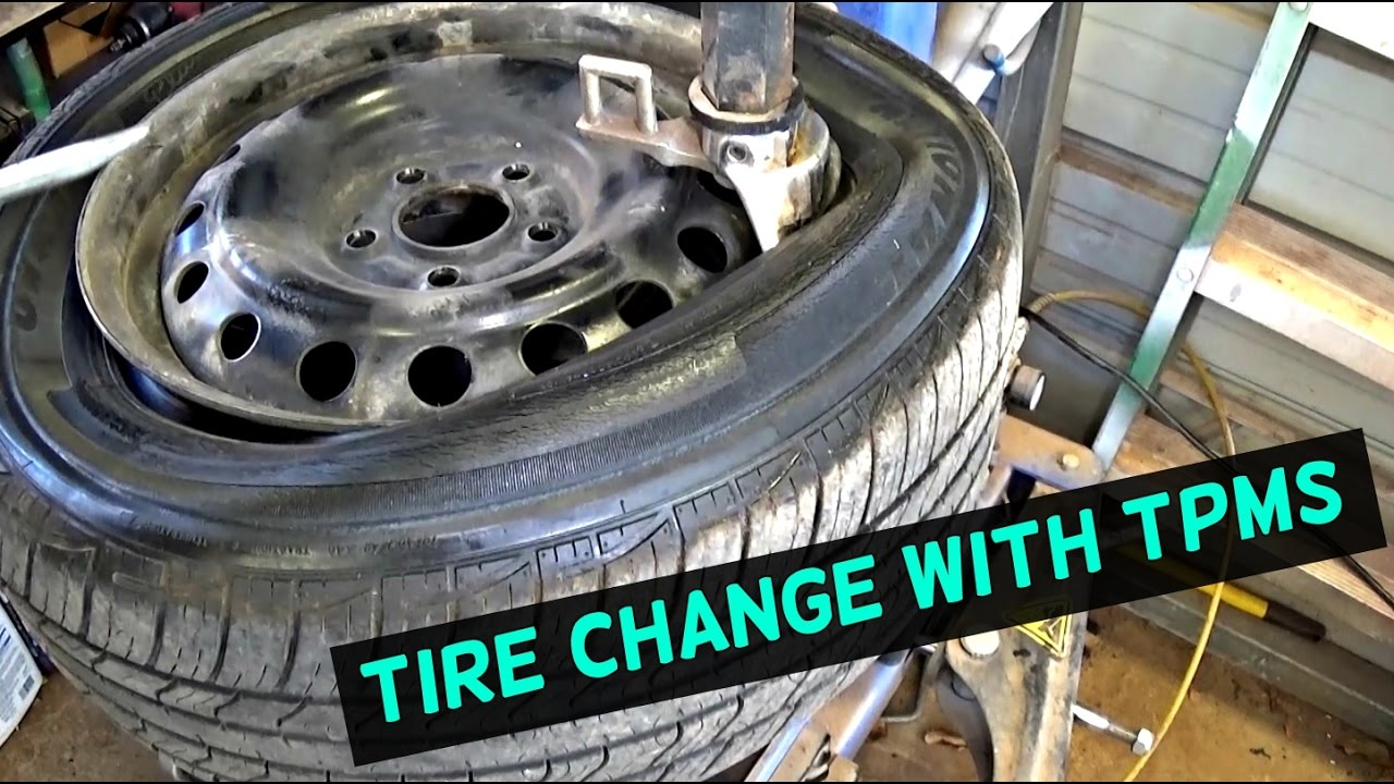 how to change a tire with tpms sensor youtube. Black Bedroom Furniture Sets. Home Design Ideas