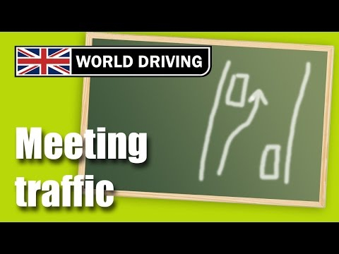 Meeting traffic driving lesson - Clutch control meeting traffic