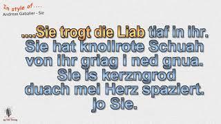 Andreas Gabalier - Sie - Instrumental und Karaoke by rolf rattay