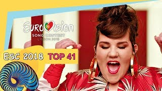 Eurovision 2018 - My Top 41 [So Far]