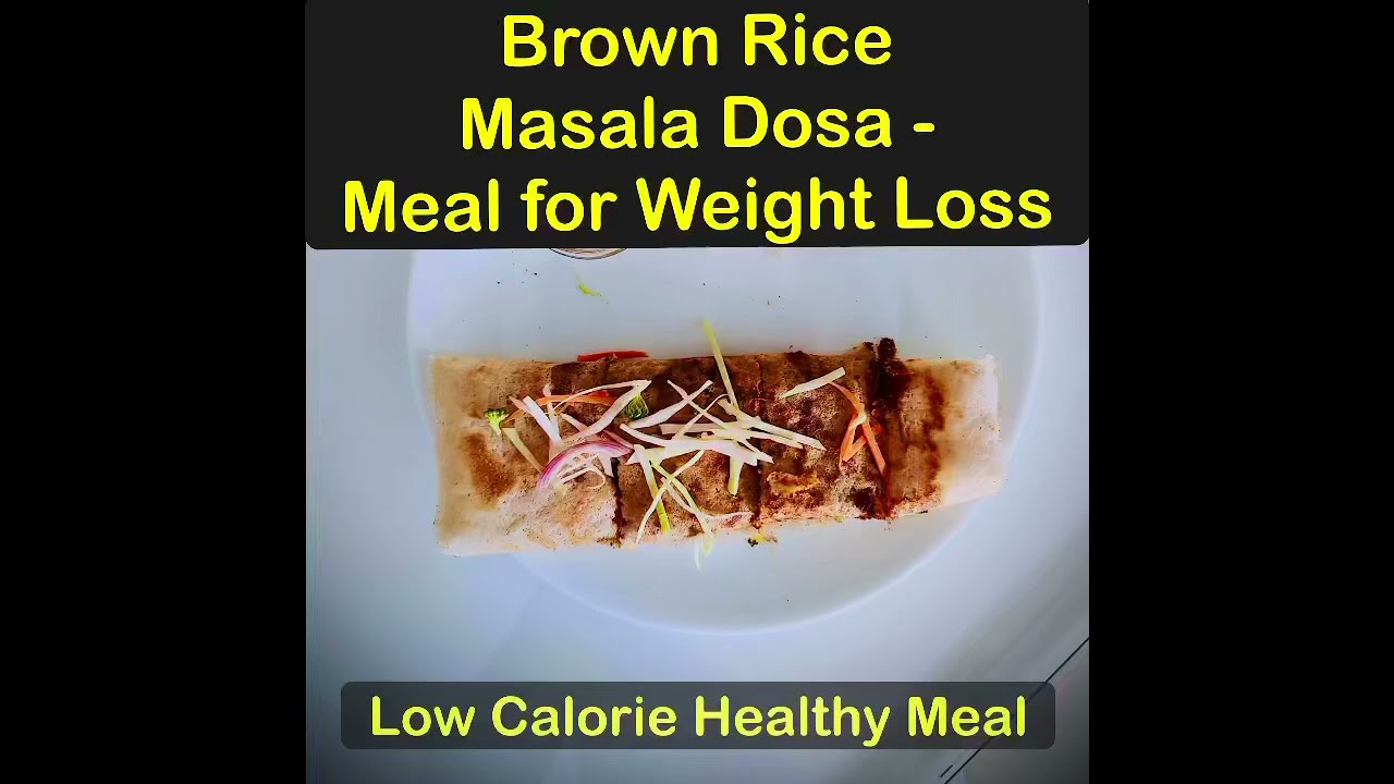 Brown Rice Masala Dosa (Healthy & Great for weight Loss) -