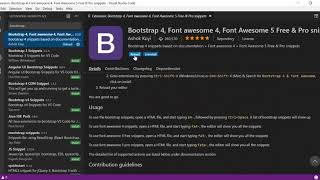 Install Bootstrap 4 in VS Code Extension | how to use Bootstrap in VS Code Project