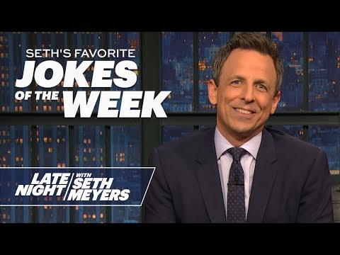Seth's Favorite Jokes of the Week: Trump's Doctored Photo, Man Arrested at Catholic Church