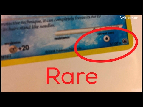 How To Find Out If Your Pokemon Card Is Rare!