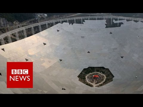 Building the world's largest radio telescope - BBC News