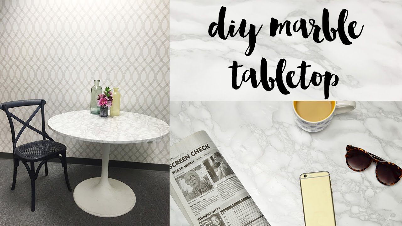 Use Marble Sticky Back Plastic To Cover A Table   YouTube