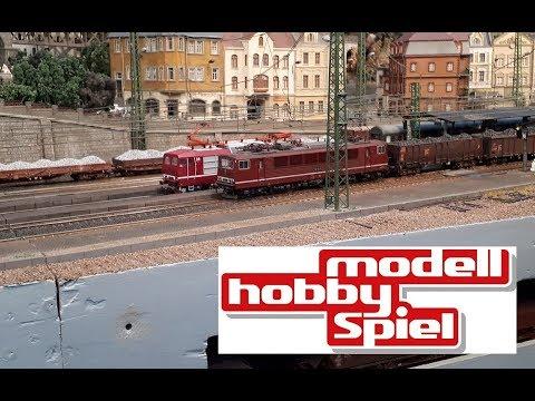 Modell-Hobby-Spiel Leipzig 2018 // Modellbahn; RC Schiffe, Flugzeuge, Trucks