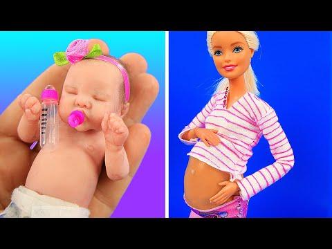 12 Лайфхаков для Барби и ЛОЛ! беременная барби!
