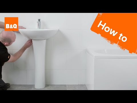How to install a pedestal basin