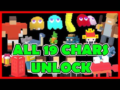 CROSSY ROAD All 19 Secret Characters Unlock | NEW Pac-Man 256 Update Mystery Ghosts: Inky & Co