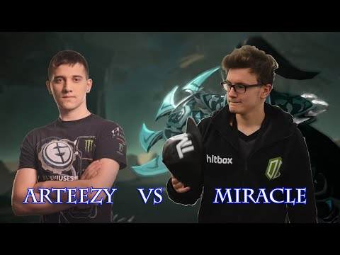 Dota 2 Miracle vs Arteezy in China  8600 MMR vs 8400 MMR fullgame #Miracle-2