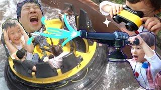 (독감주의!!)물총 발사!! 아빠 맞추기? 홍콩오션파크 래피드 급류타기 놀이기구 물놀이 장난감 놀이|gopro hero 5| 香港海洋公园 LimeTube & Toy 라임튜브