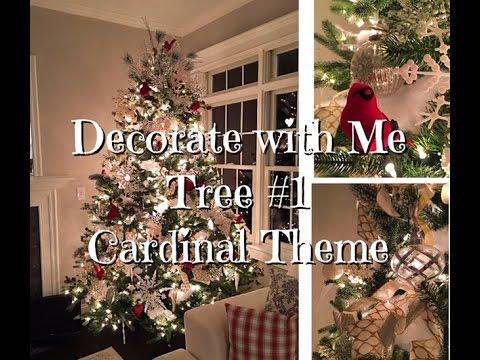 Cardinal Christmas Tree How-To Dollar Tree ornaments