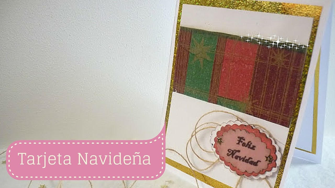 Manualidades para navidad como hacer tarjeta para navidad - Manualidades tarjeta navidena ...