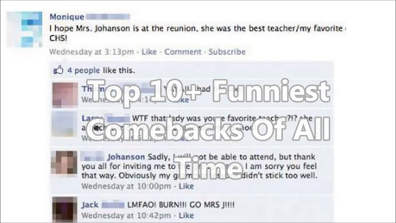 Funniest Comebacks Ever YouTube - The 10 most hilarious teacher comebacks of all times