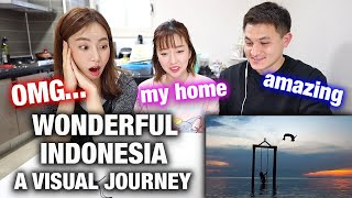 KOREAN ACTRESS REACTS Wonderful Indonesia: A Visual Journey | I LOVE INDONESIA