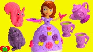 Sofia the First Play Doh Tea Party With Minnie Mouse and Surprises