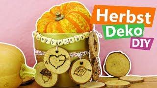 DIY Inspiration Challenge #132   DIY Herbstdeko mit Holzscheiben   Kathis Sonntags Challenge