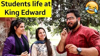 Life at King Edward Medical Univerisity | Asking Funny questions to Girls in Pakistan KEMU Lahore