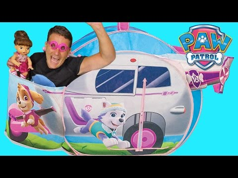 Paw Patrol Skye Helicopter Saves Baby Alive!  !    Toy Review    Konas2002