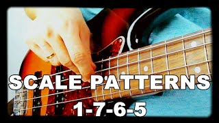 Walking Bass Lessons - L#5 Scale Patterns - 1-7-6-5