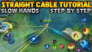 STRAIGHT CABLE FOR SLOWHANDS (FANNY TUTORIAL) | DAISUKE MLBB