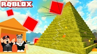 Red Stones Are Coming Hide!! Survival - Roblox Disaster Island with Panda