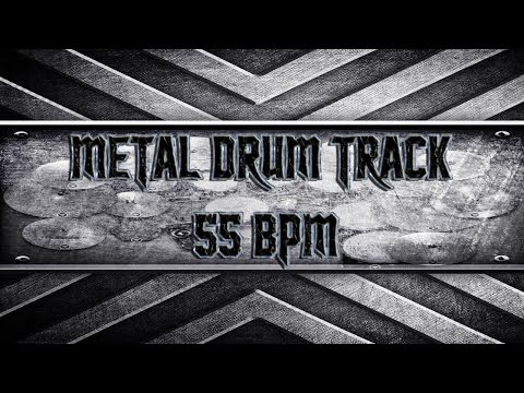Extremely Slow Metal Drum Track 55 BPM (HQ,HD)