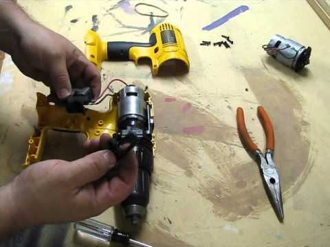 Hamer Wiring Diagram Dewalt 18v Drill Motor Replacement Dewalt Dc759 Youtube