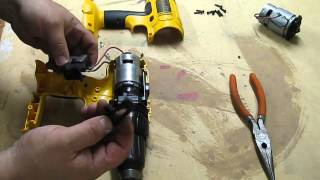 Dewalt 18v drill motor replacement. Dewalt DC759